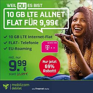 Telekom Allnet Flat Green LTE 10 GB für 9,99€ mtl.