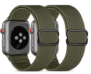 Doppelpack CACOE Apple Watch Armband (38mm / 40mm) in Army green für 7,99€