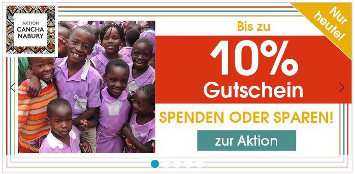 Bis zu 10% Rabatt oder Spende auf (fast) das gesamte Sortiment im Babymarkt Online-Shop