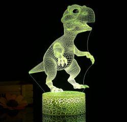 Shineslay 3D Dinosaurier LED-Nachtlicht für 9,99€