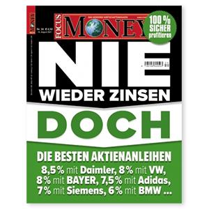 3 Monate (12 Ausgaben) FOCUS MONEY für 56,40€ – als Prämie: 55€ Amazon Gutschein
