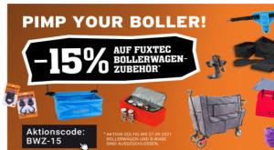 15% Rabatt auf Zubehör für Bollerwagen bei Fuxtec!