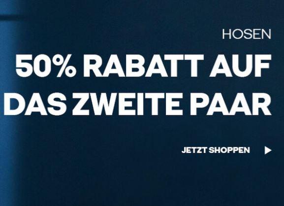 50% Rabatt auf das zweite Paar Hosen bei Jack & Jones
