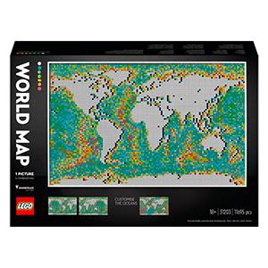 LEGO Art 31203 Weltkarte (11.695 Teile) für nur 199,99€ inkl. Versand (statt 245€)