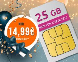 Datentarif Schnäppchen: MD Telekom Green Data XL Spezial mit 25GB LTE nur 14,99€ mtl.