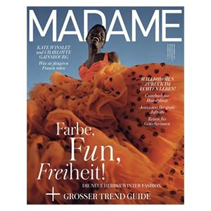 6 Monate (4 Ausgaben) MADAME für 29,60€ – als Prämie: 30€ Amazon-Gutschein