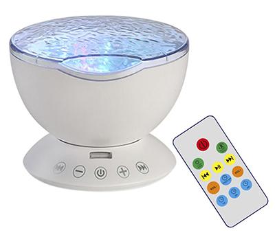 Ocean-Wave Projektor Nachtlicht (7 Beleuchtungsmodi) für nur 9,99€