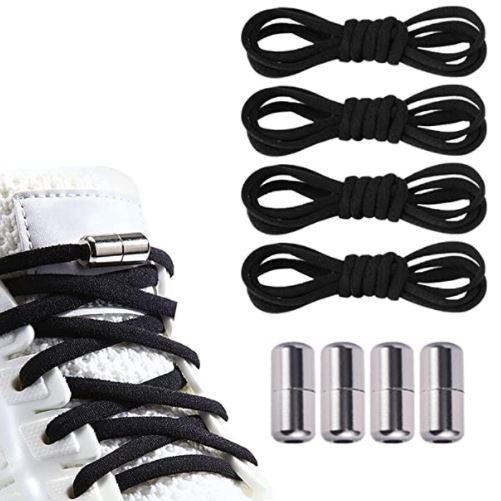 2 Paar Elastische Schnürsenkel mit Metallkapselschnallen (Ohne Binden) für nur 4,44€ bei Prime-Versand
