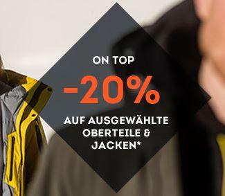 20% Rabatt auf rund 1000 Jacken & Oberteil Bestseller bei SportScheck