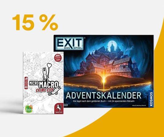 Nur noch heute! 15% Rabatt auf über 30.000 Spielwaren, Advenskalender und mehr bei Thalia