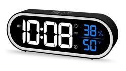 Beeasy Digitaler Akku-Wecker mit Thermometer für 13,49€