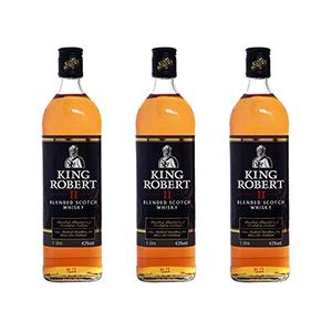 3 Flaschen King Robert II Blended Scotch Whisky (43%, 1L) für nur 34,50€