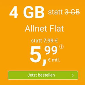 WinSIM Allnet-Flat mit 4 GB Datenvolumen für 5,99€ oder mit 11 GB Datenvolumen für 11,11€ pro Monat – (monatlich kündbar)