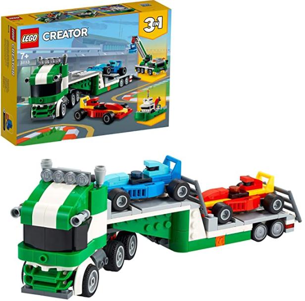 LEGO 31113 Creator 3-In-1 Rennwagentransporter Spielzeug LKW mit Anhänger, Kran und Boot, Rennwagen Autotransporter für nur 15,99€ bei Prime inkl. Versand