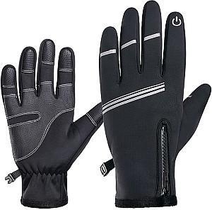 Aomiun Winterhandschuhe mit Touchscreen-Fingerdesign für 10,99€