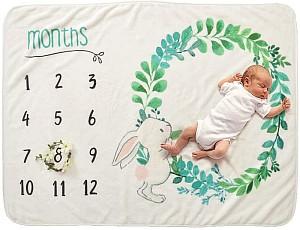 Decdeal Baby Fotohintergrund-Decke aus Flanell für Babyfotos für 12,59€