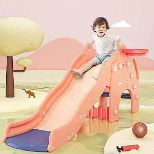 HAPPYMATY Freistehende Elefantenrutsche für Kleinkinder (zwei verschiedene Farben) für 74,99€