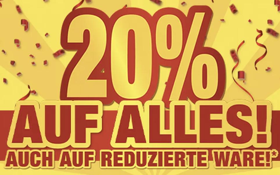 20% Rabatt auf (fast) alle Produkte im POCO Onlineshop