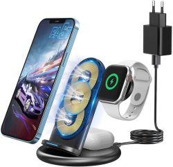 Knofarm 15W Wireless 3-in-1 Qi Ladestation für Smartphone, Airpods und Apple Watch nur 15,99€