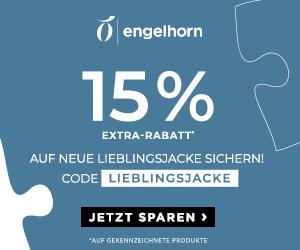 15% Extra-Rabatt auf viele ausgewählte Jacken bei Engelhorn – z.B. Wellensteyn, Tommy Hilfiger, The North Face