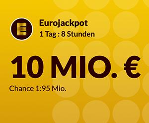 2 Felder Eurojackpot für 1€ statt 4,60€ spielen (für Lotto24 Neukunden)