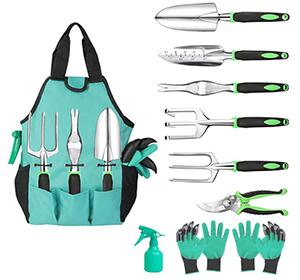 Hauyate 10-teiliges Gartenwerkzeuge-Set für 14,99€