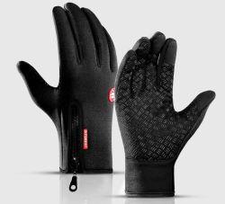 Zwbfu Wasserdichte Fleece-Thermosporthandschuhe mit Touchscreen-Support für 6,99€