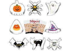 8er Set OUDDY Halloween Ausstechformen und 50 Stück Halloween Kekstüten für 4,99€