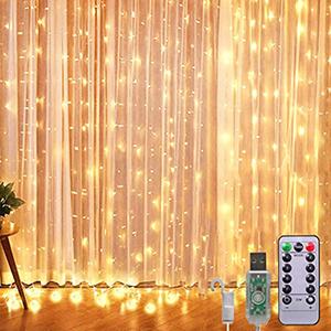 RJEDL Lichterketten Vorhang  (3 x 3 m, 300 LEDs) für nur 10,13€ inkl. Prime-Versand