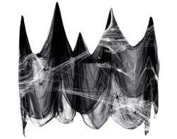 Halloween Gadget: Tepilos DekoSpinnennetz 200 X 500cm für 4,89€
