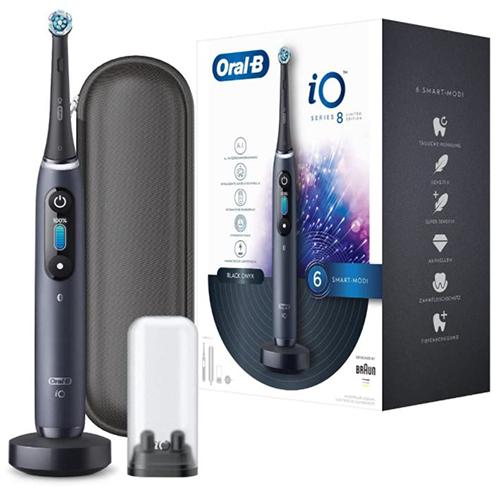 Oral-B iO 8 Limited Edition Elektrische Zahnbürste (6 Putzmodi, 1 Aufsteckbürste, Farbdisplay & Reiseetui) für nur 158,99€ (statt 198€)