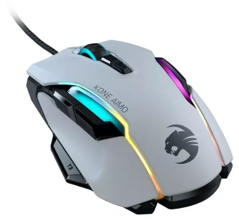 Roccat Kone AIMO Gaming Maus in Weiß