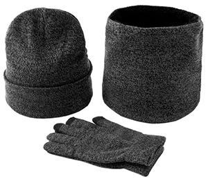 Aomiun 3 in1 Winter Schal Mütze Handschuhe Set aus Fleece für nur 13,49€