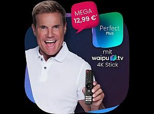 12 Monate waipu TV Perfect Plus für 12,99€ mtl. (statt 15,99€) + GRATIS waipu 4K TV Stick