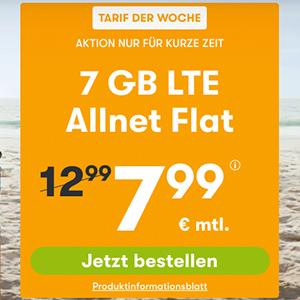 WinSIM Allnet-Flat mit 7 GB Datenvolumen für 7,99€ oder mit 11 GB Datenvolumen für 11,11€ pro Monat – (monatlich kündbar)