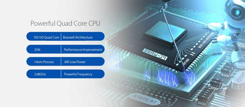 Ausgestattet ist der X22 Air mit einem Quad Core Prozessor von Intel.